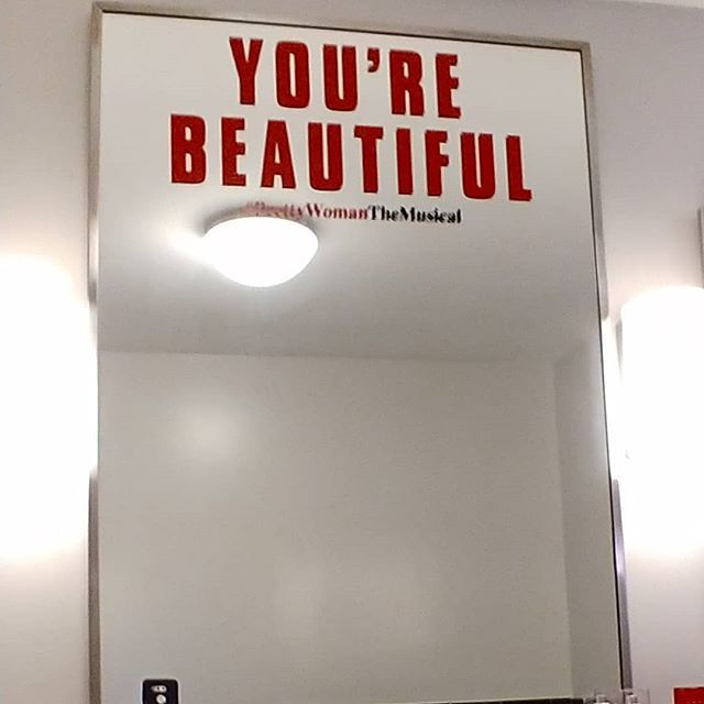 Mirror in the bathroom at the musical... Remember how beautiful you are inside and out today!  #beautiful #prettywomanthemusical #broadway #newyorkcity #nyclife #ny #nederlandertheatre #fantasticshow  http:// bit.ly/2QcS4LK  &nbsp;  <br>http://pic.twitter.com/toCamI2VJN