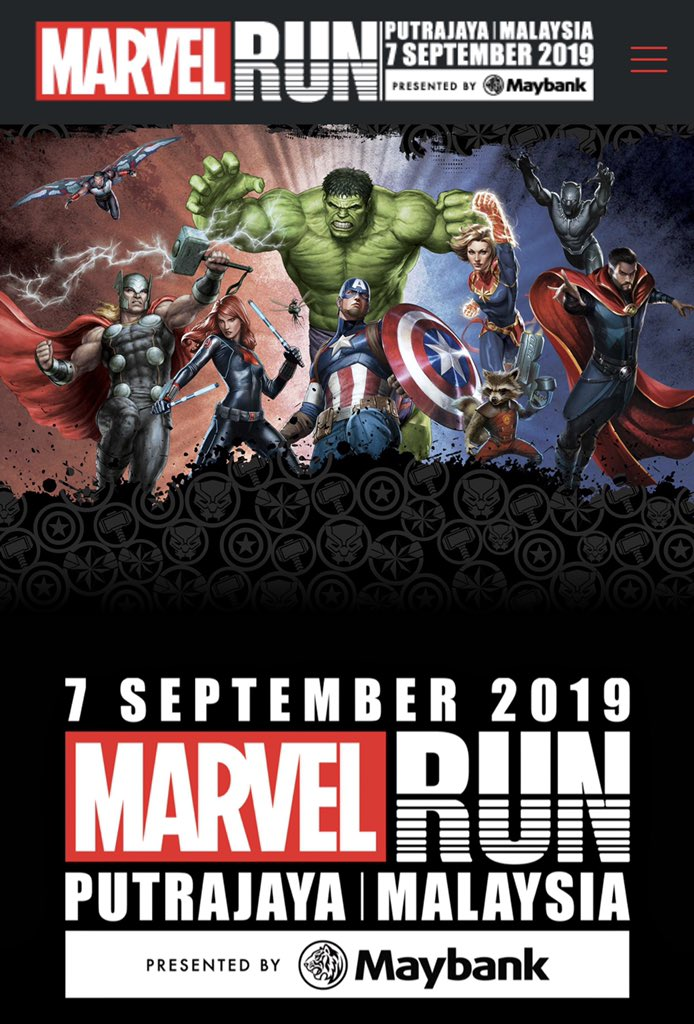 Done booking for #MarvelRun Malaysia in Putrajaya on 7 September 2019. Anyone else going? The official merchandise looks very nice - inclusive of fees, just choose between:  #CaptainAmerica  #Thor  #CaptainMarvel  #BlackPanther  <br>http://pic.twitter.com/LAJeoD1M96