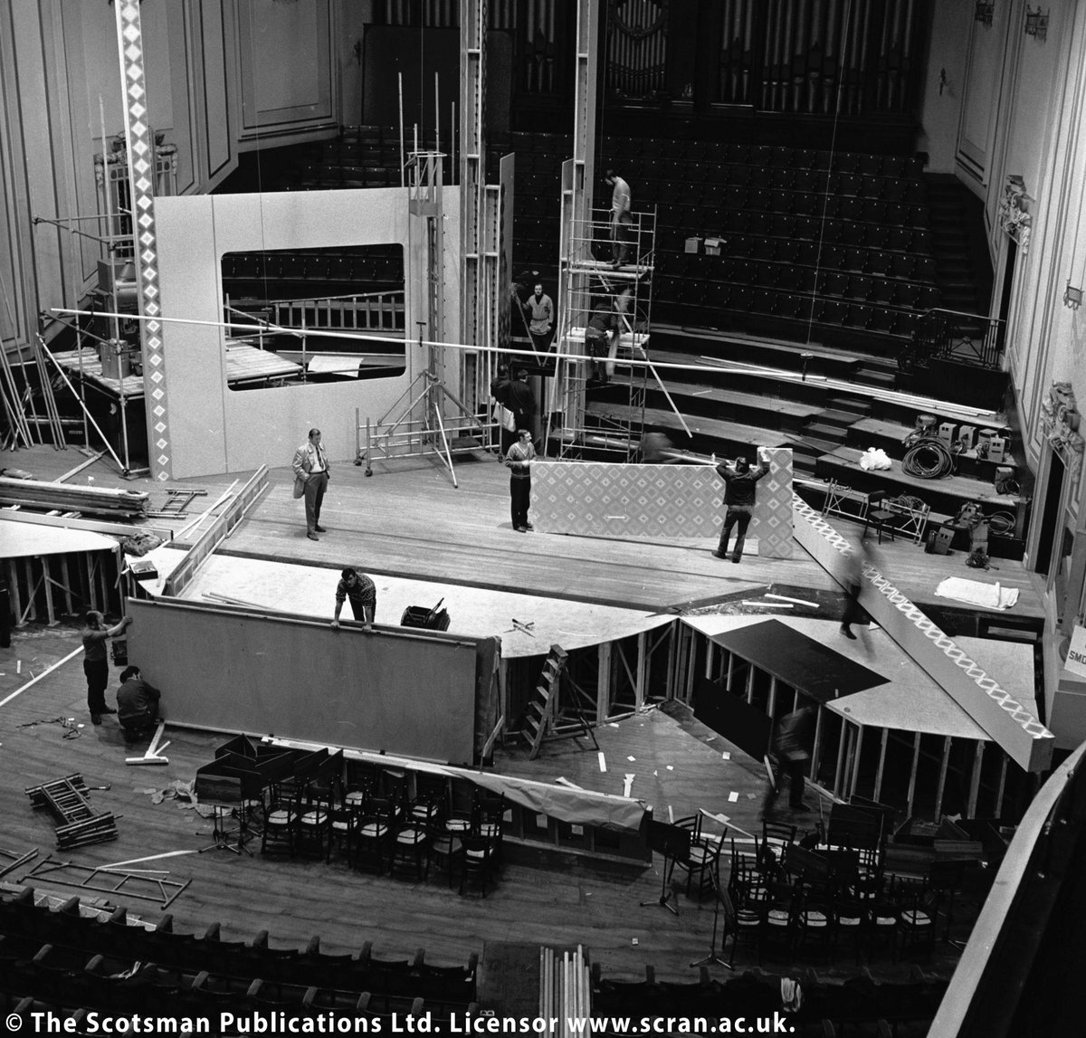 Getting ready for #Eurovision? #DYK that Edinburgh's Usher Hall hosted the 1972 Eurovision Song Contest? These @Scranlife archive images show the Lothian Road venue being prepared for the big show, and the eventual winner, Greek singer Vicky Leandros representing Luxembourg.
