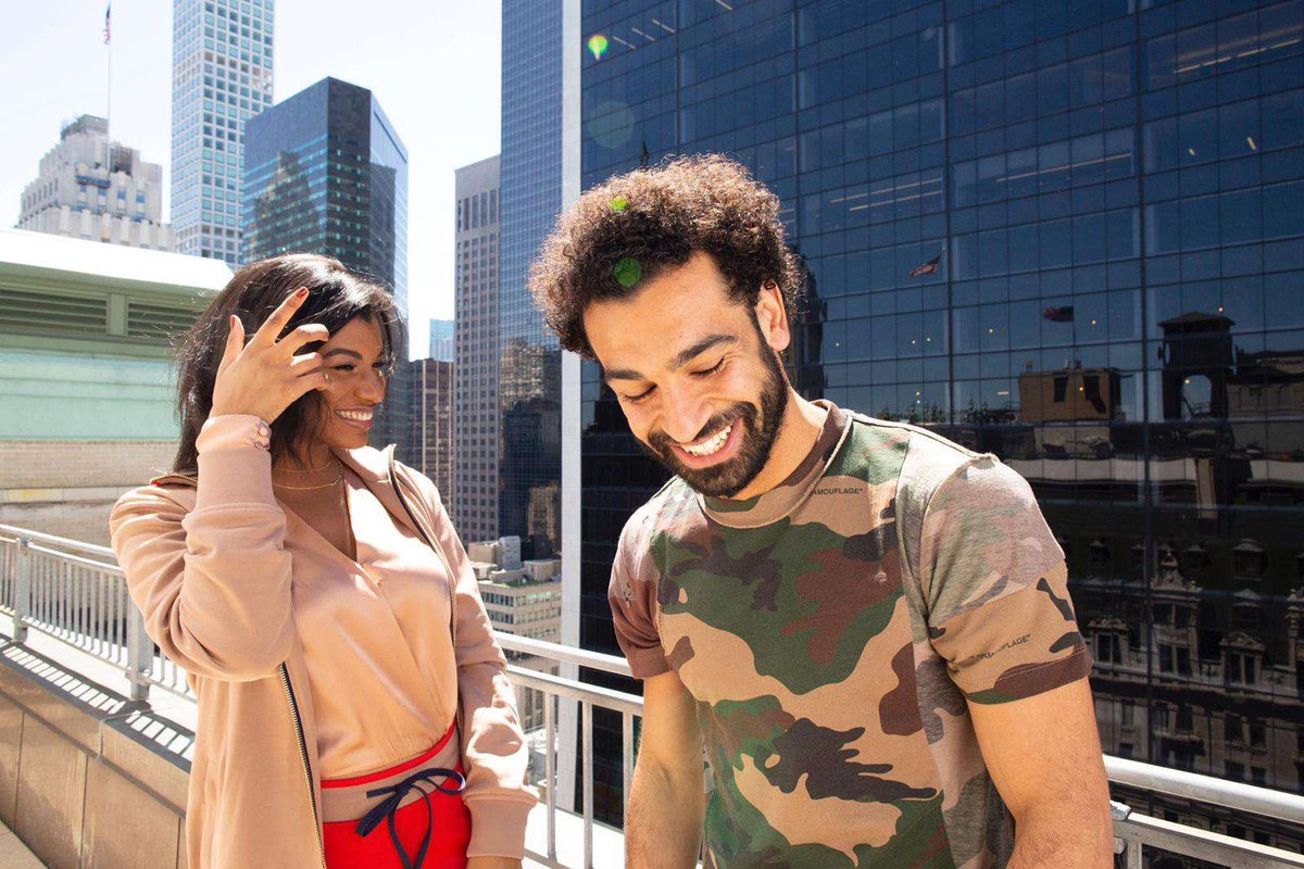 Mo Salah with the Snapchat girl filter version of Rashford