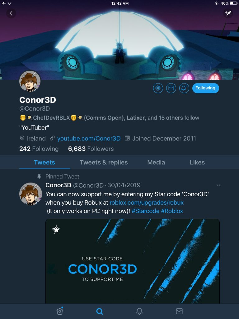 Conor3d On Twitter Hey Gamers Thanks To Roblox I M Giving