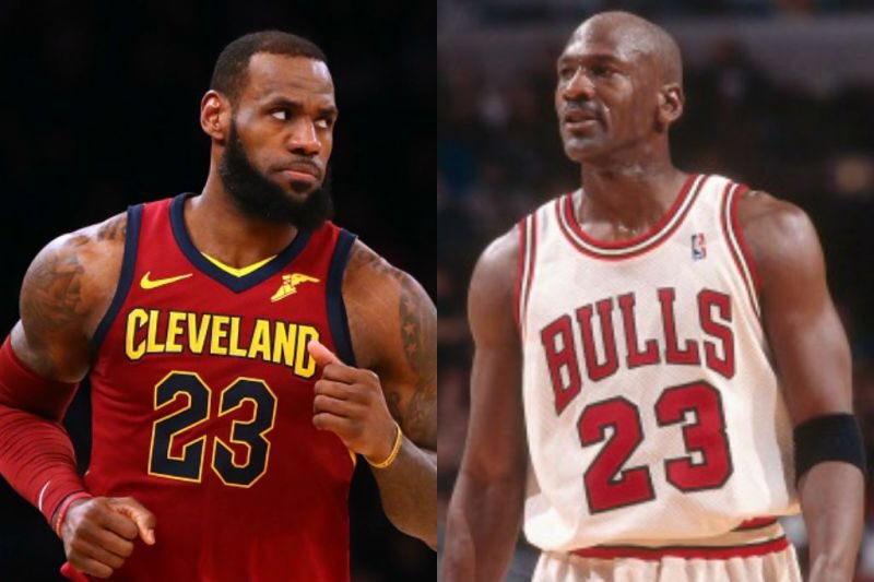 NBA seasons with:  2,000 points, 500 rebounds, 500 assists  LeBron: 8 times  Jordan: 2 times