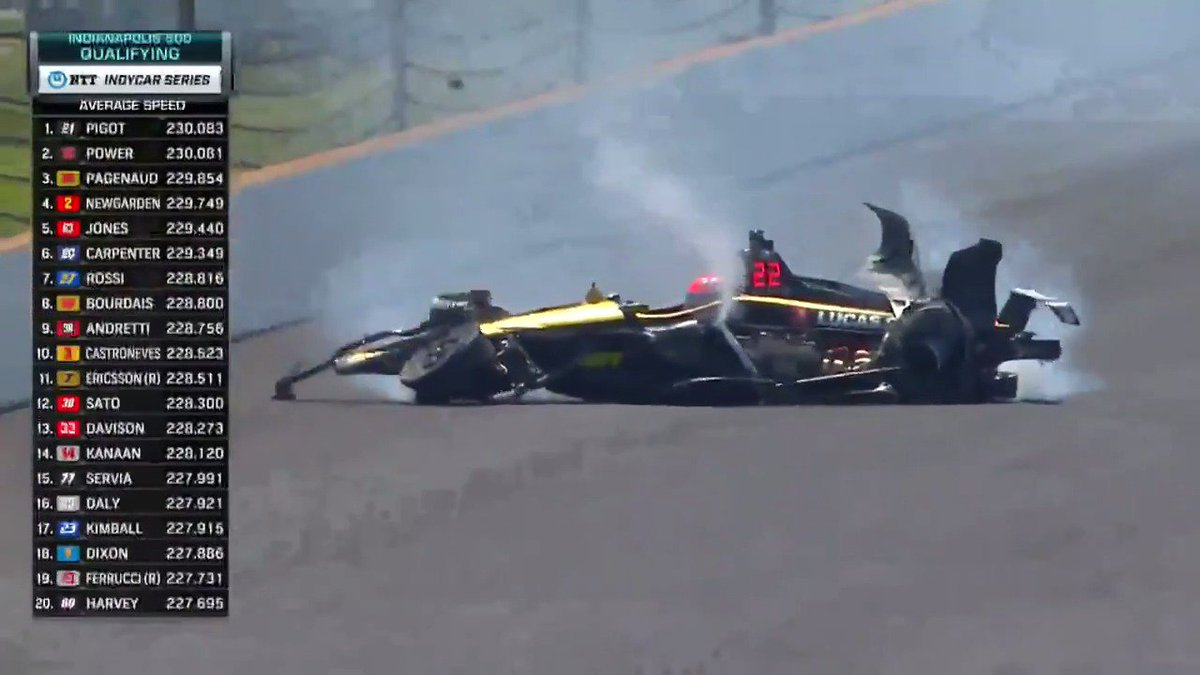 IndyCar's James Hinchcliffe describes 'nightmare' crash after almost flipping upside down
