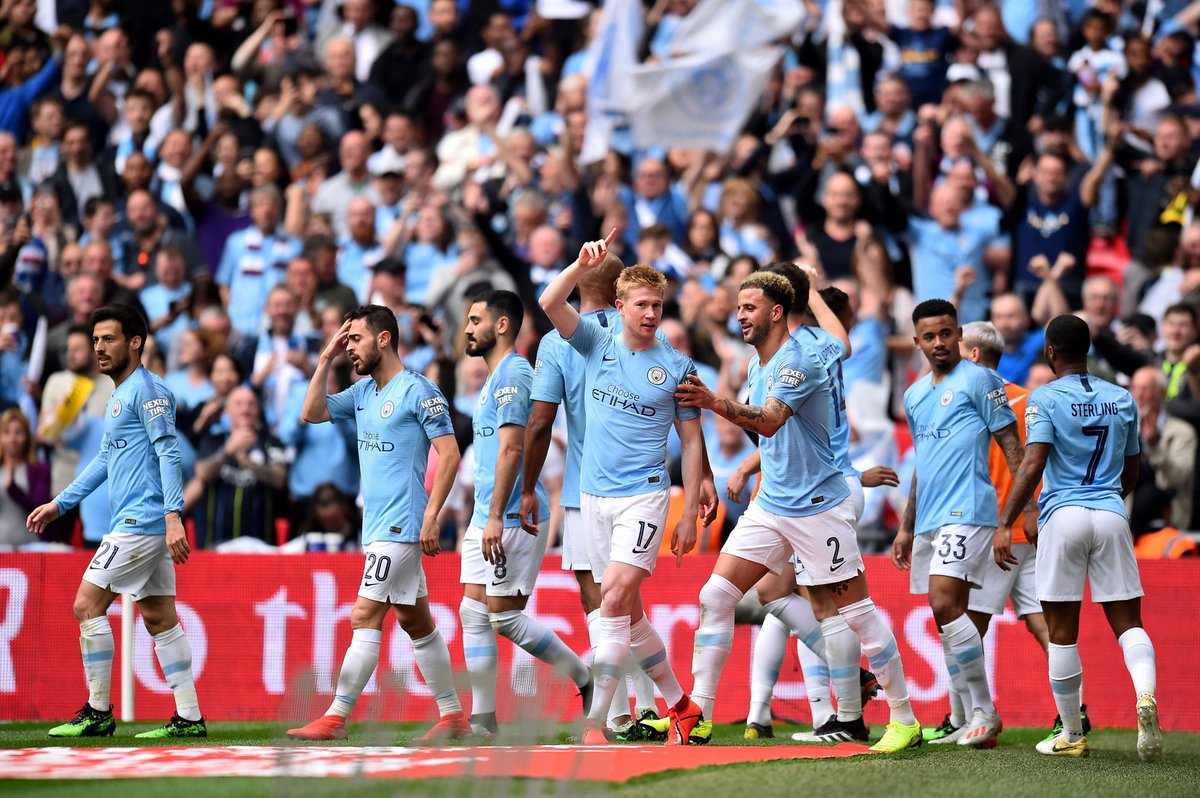 RECORD ALERT:Manchester City have now equalled a 116-year-old record in the FA Cup.This is now the largest winning margin in a final in this competition since Bury 6-0 Derby County in 1903.#MCIWAT #FACupFinal