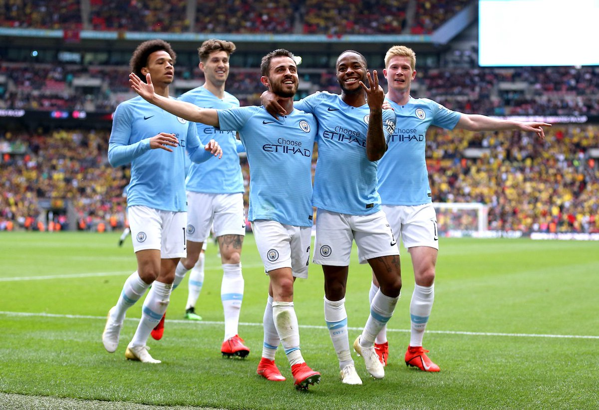 Largest ever scores in an #FACupFinal: • Bury 6-0 Derby County (1903) • Man City 6-0 Watford (2019) Man City the first to win by six in the twenty-first century.