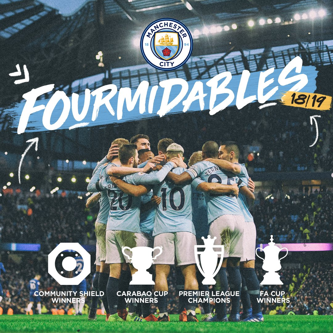 Image result for man city treble