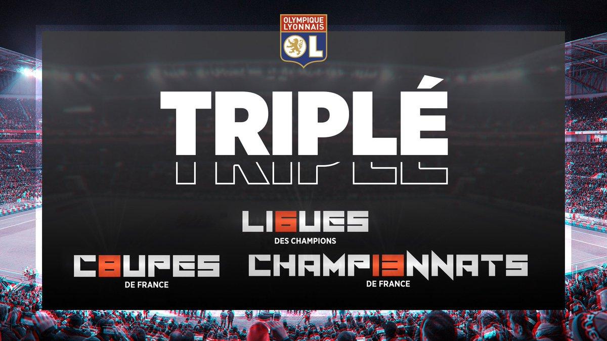 Nos joueuses réalisent un triplé formidable avec la @UWCL, le championnat et le Coupe de France lors de cette saison 2018-2019 ! #UwclFinal  BRAVO ! 👏👏👏