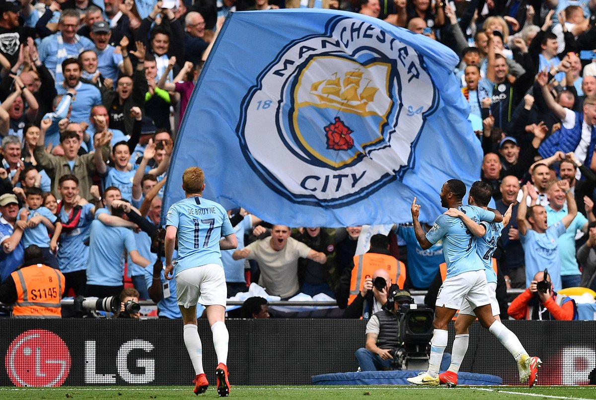 50 - Manchester City are the first English top-flight side in history to win 50 matches in a single season in all competitions, six more than they managed in 2017-18. Eclipsed. #MCIWAT #facupfinal