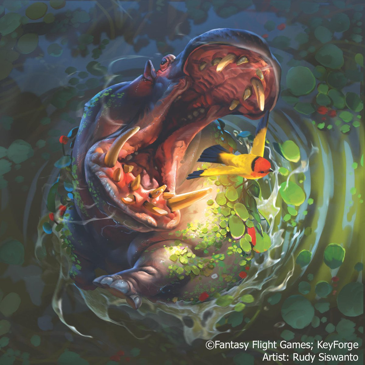 It's behind me … isn't it. What would you call this #KeyForge creature? #CreatureFeature [Art by @rudy_crut]