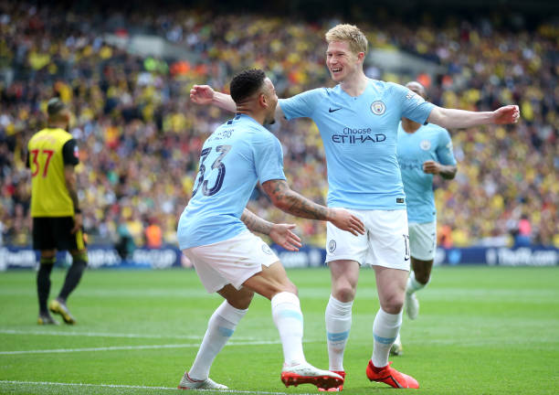 Kevin De Bruyne vs Watford:35 Minutes1 Goal1 Assist2 Shots100% (40) Passes completed4 Chances created4 (4) Long balls completed2 (2) Dribbles completedHe's just too good.#FACupFinal #ManCity