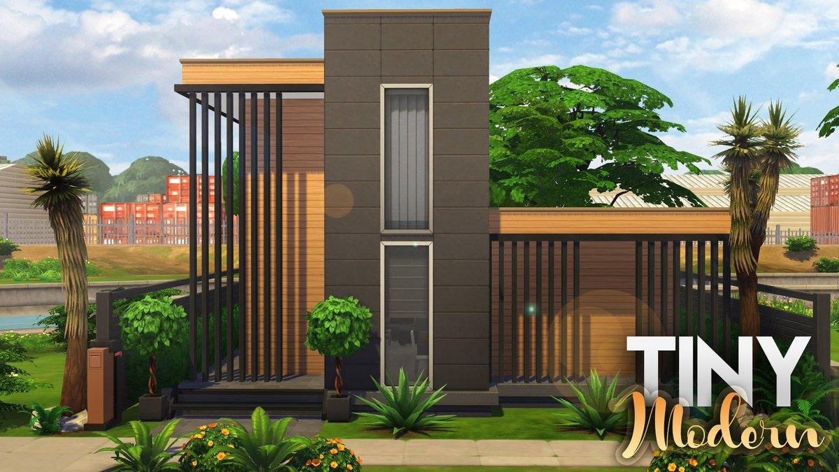 2 Bedroom🛏️, 2 Bathroom🚿 TINY MODERN HOME 🏡 The Sims 4