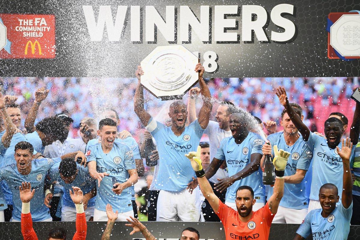 HISTÓRICO!!!  🏆 Community Shield  🏆 Carabao Cup 🏆 Premier League  🏆 Fa Cup  @ManCityPT 💙