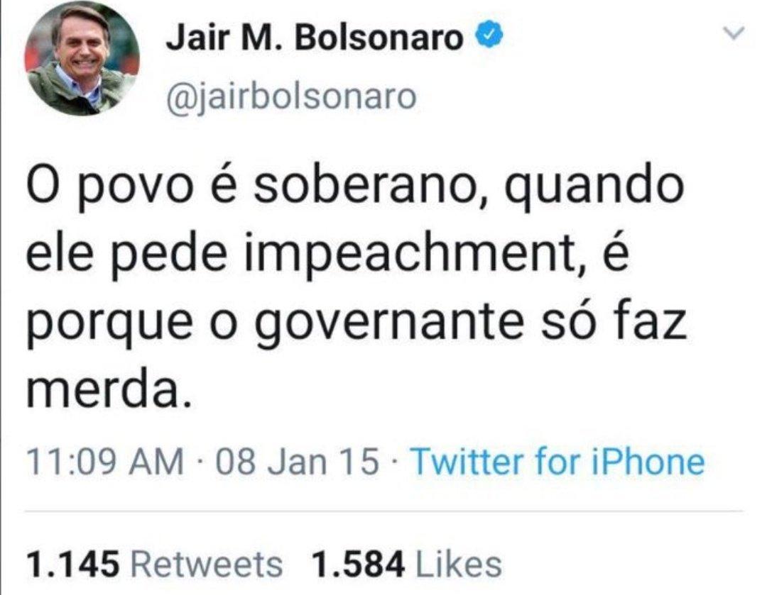 Não estou acreditando que concordo com esse indivíduo. #Impeachementbolsonaro