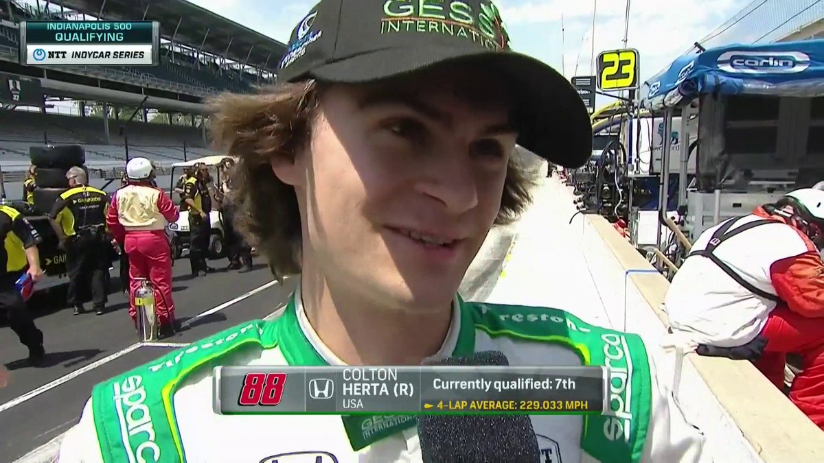 We are certainly impressed by @ColtonHertas top 9 qualifying run but he still feels that there is a bit more speed in the car. Lets see it boy. @IndyCar // @FollowHSRacing // #MustBeMay Watch here: nbcsports.com/gold/indycar