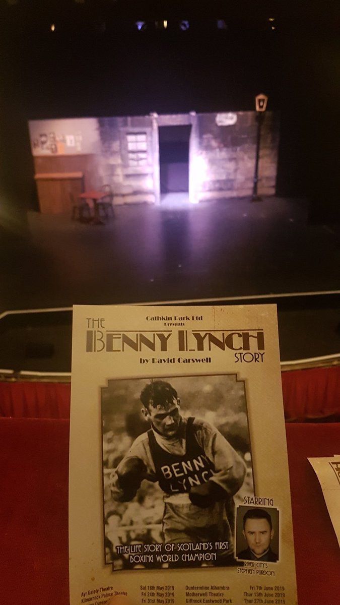 Been waiting ages for this. Read the book earlier this year . A wee night at the Gaiety. #BennyLynch #Legend #Gallus