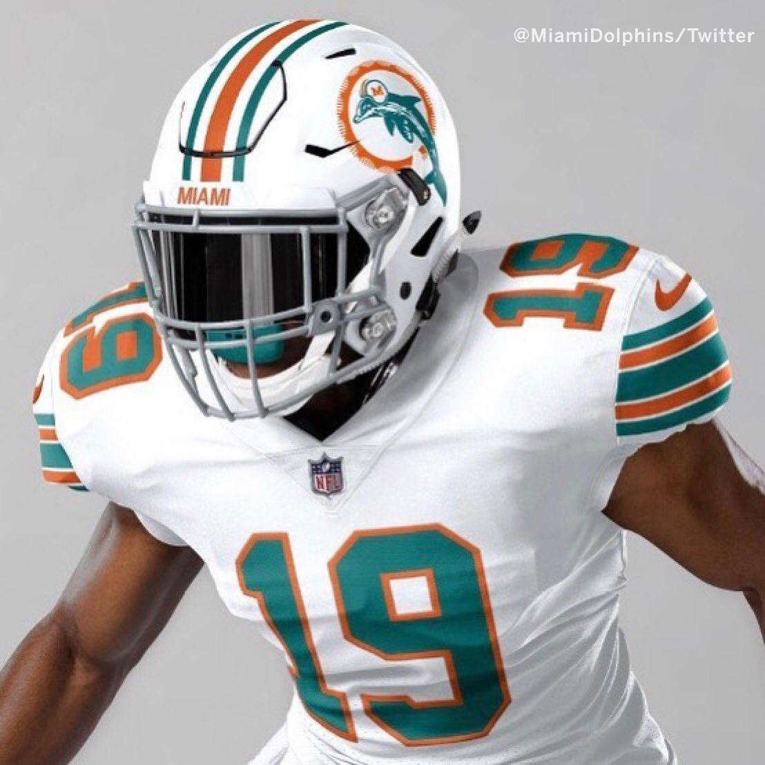 The Dolphins will rock these throwback unis Week 2 against the Patriots this season  (via @MiamiDolphins) <br>http://pic.twitter.com/gzcIwHWrpe