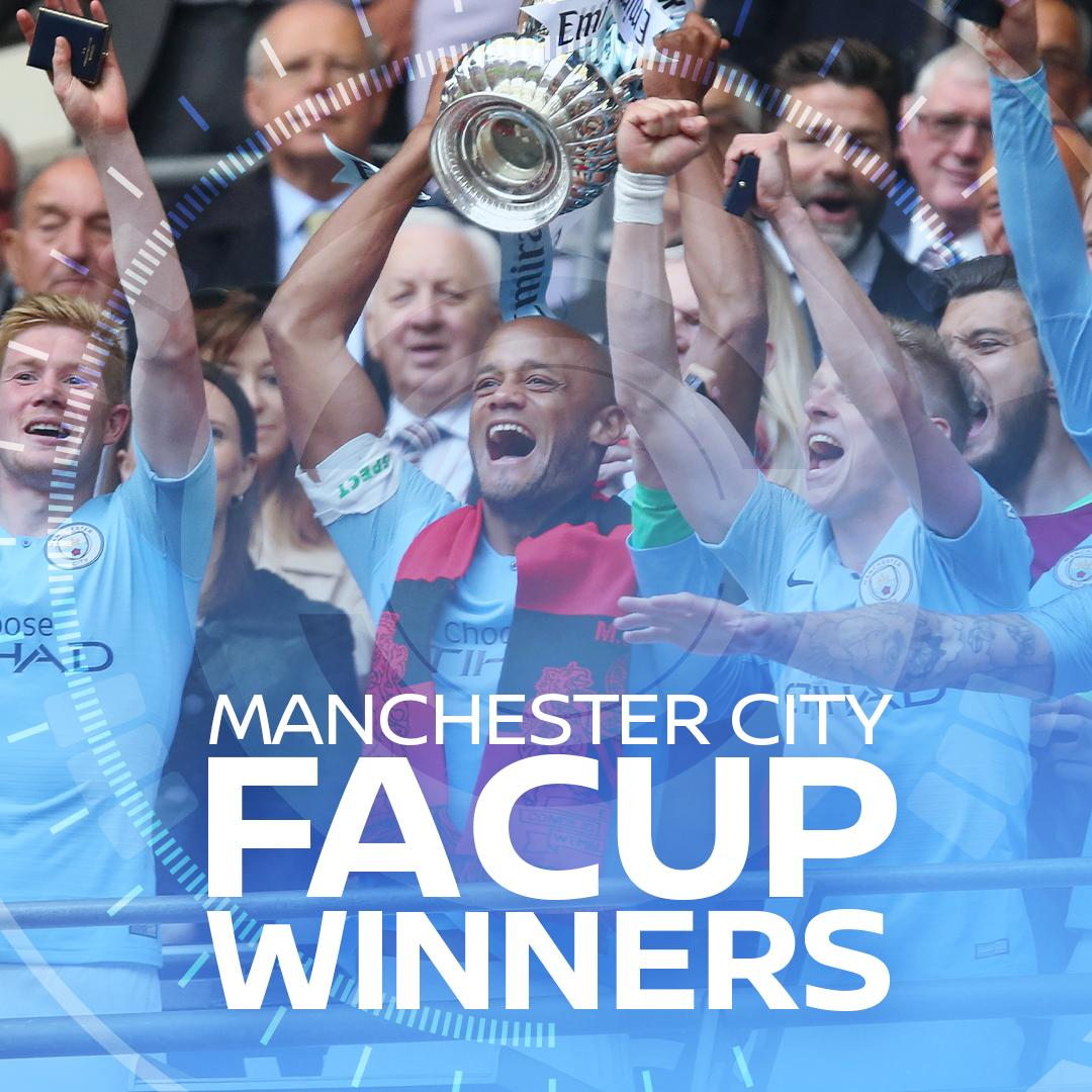 🏆🏆🏆The men's first domestic treble in the English game. Congratulations to our partners @mancity on completing a historic season. Trailblazers 🔵#InnovateYourGame