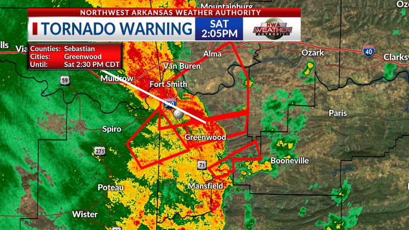 Please be advised of a tornado warning in #AR3.