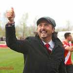 Image for the Tweet beginning: .@CPLCavalryFC coach/GM @tommywheeldonjr celebrates a