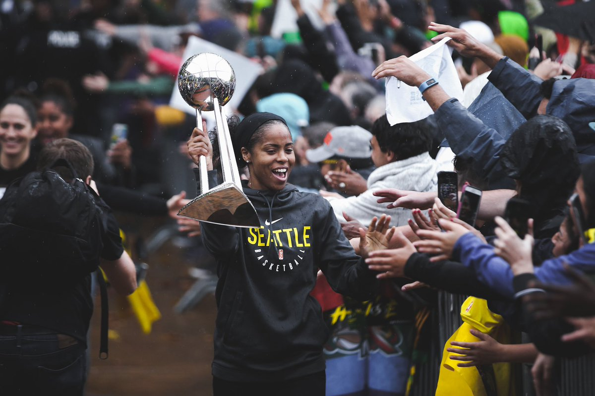 We are 7️⃣ days away from: - The start of the 2019 season 🏀 - Our ring ceremony 💍💍💍 - The Rematch @PhoenixMercury💥  ... Can it be next Saturday yet!?! 😅  #WeRepSeattle