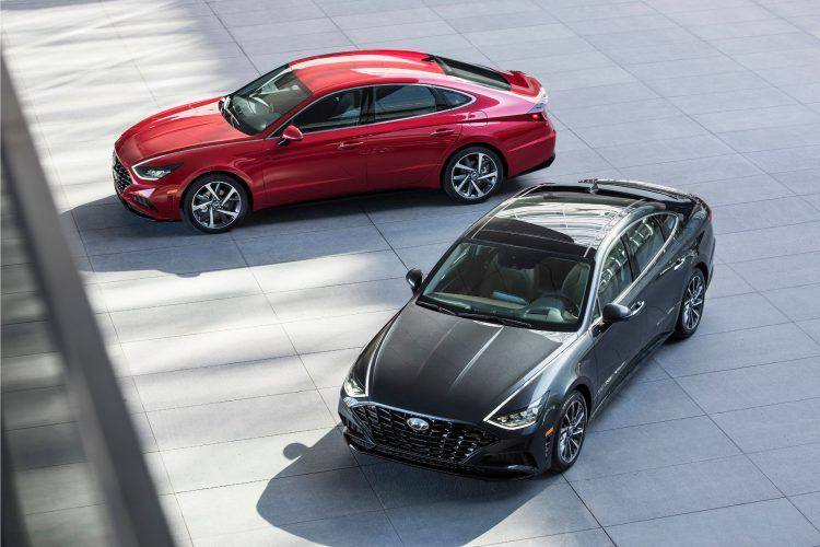 """The 2020 #Sonata embodies @Hyundai's """"Sensuous Sportiness"""" design language with a """"sophisticated four-door-coupe look,"""" or so says the company. http://ow.ly/iohX50ug9yE"""