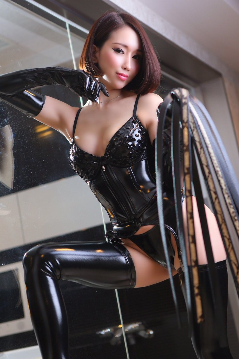 Asian babes in latex, nude goth brunette