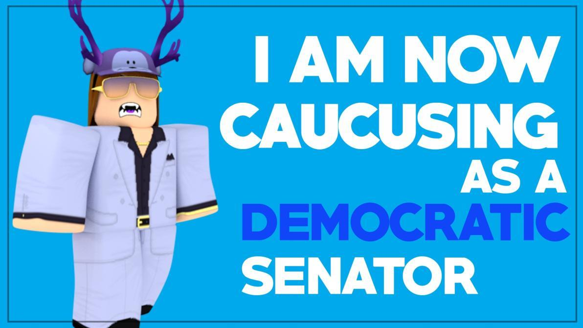 Hello, fellow colleges, and Americans. I would like to say that I will be switching parties to be a Democrat.   I am now caucusing as a Democratic Senator.