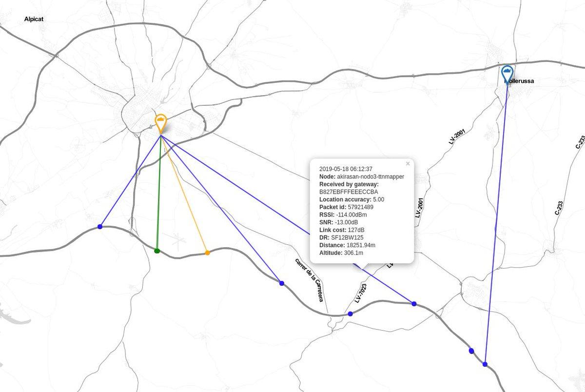 RT @akirasan: Ya en casa, analizo el nodo @ttnmapper activo durante el viaje por autopista. @ttncat @ttn_mad @TtnZgz https://t.co/iKmDSI8IO9
