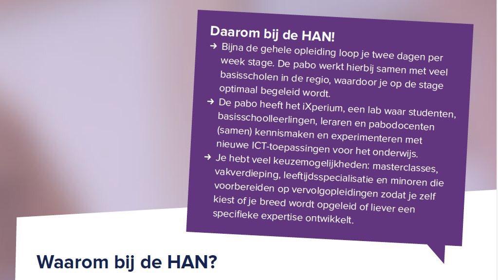 Een aantal hele goede redenen om de pabo aan de HAN te volgen #hanpabo @leraarworden @iXperium