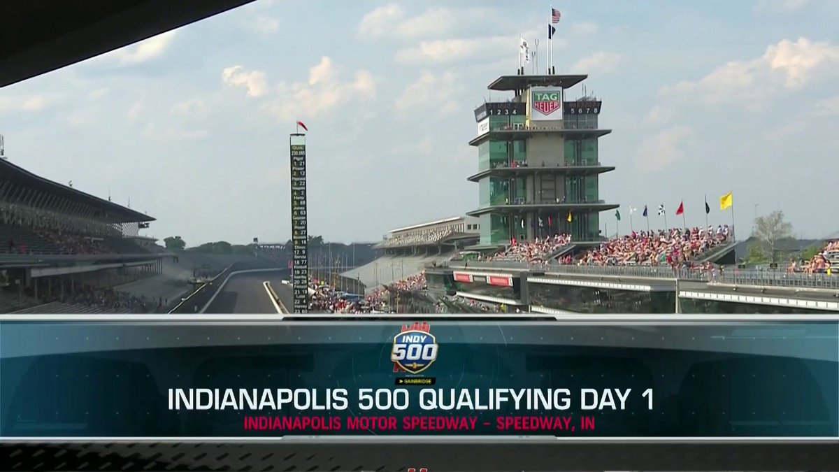 The final hour of Day 1 of #Indy500 qualifying is LIVE on @NBCSN! #MustBeMay Find out which 30 drivers lock themselves into the field, and whos at risk of being bumped. Stream here: bit.ly/2YAGjBu