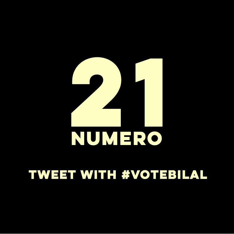 RT @iambilalhassani: #VoteBilal https://t.co/1Hb8B9xa18