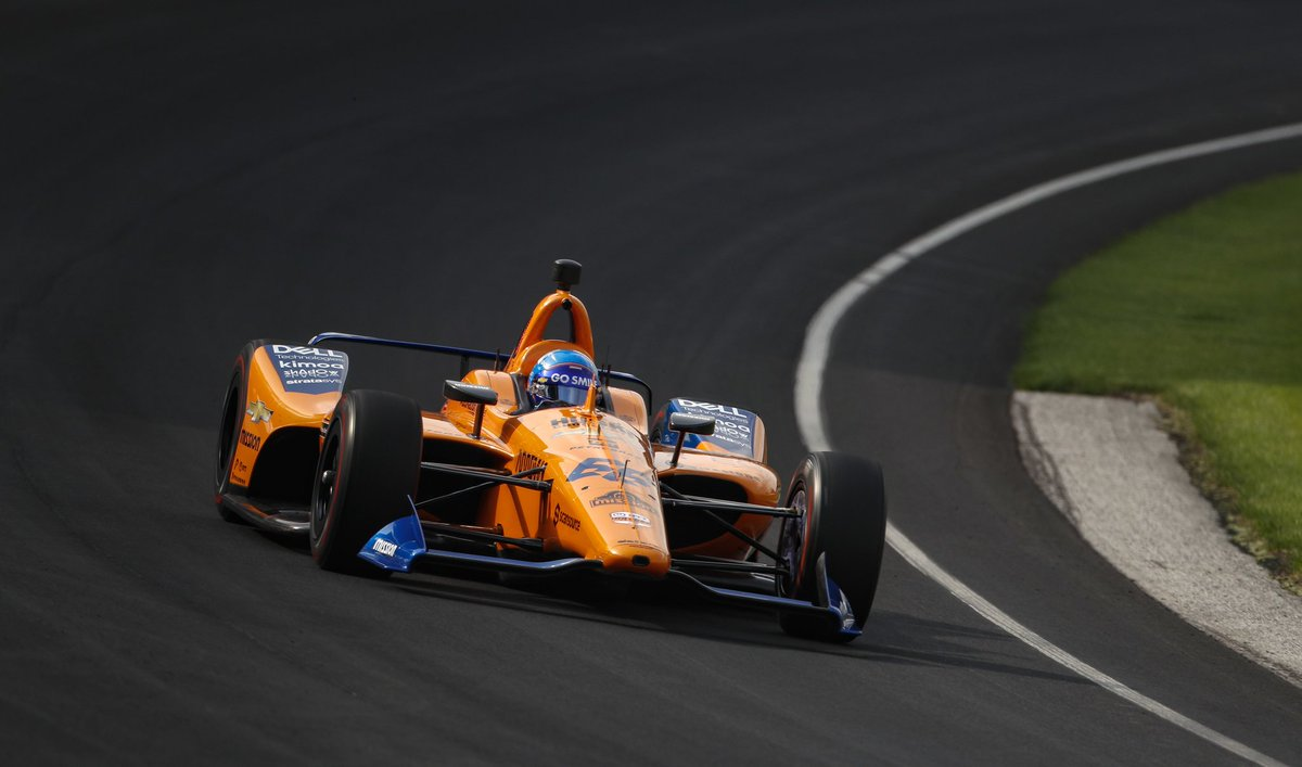 With just over half an hour left on track, Fernando posts 29th position on the board.  #McLaren66 #Indy500 🇺🇸