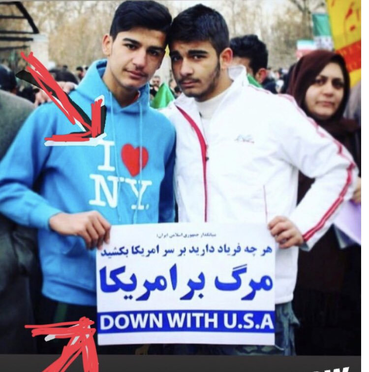 A common theme at Iran's 'Death to America' rallies: Yankee go home...but take me with you!