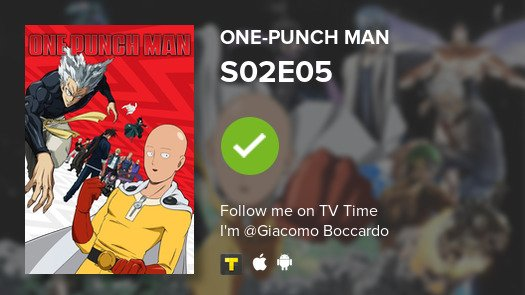 test Twitter Media - I've just watched episode S02E05 of One-Punch Man! #onepunchman  #tvtime https://t.co/XmaAl82ic6 https://t.co/61Pqe9vmWU