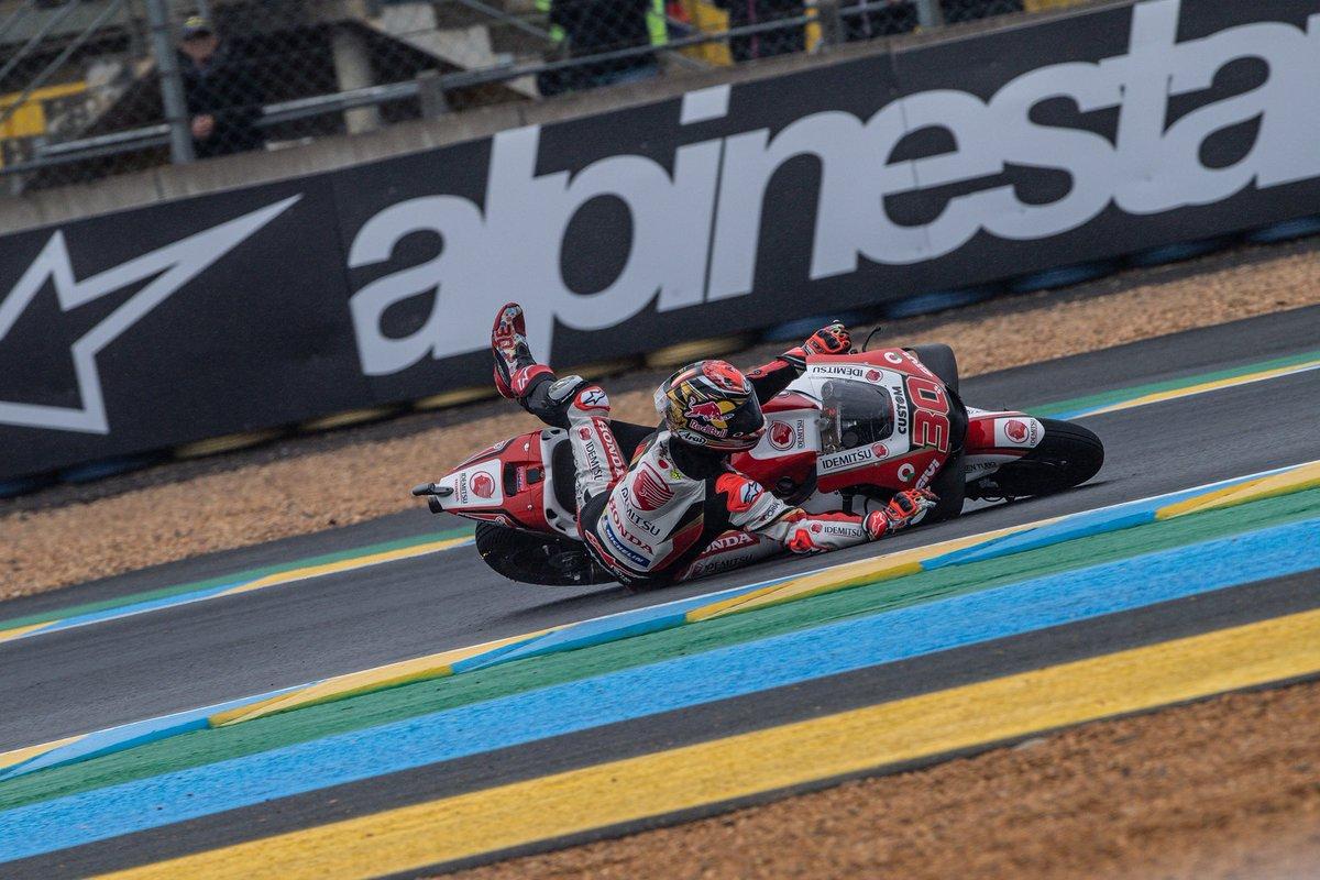 転倒がありましたが、自己ベストの7番グリッドから決勝をスタートします💪🏼 Despite a small crash, P7 on the grid for tomorrow race! Fight until the end 💪🏼 📸 @wd_jrphoto #FrenchGP #LCRHondaIDEMITSU #MotoGP