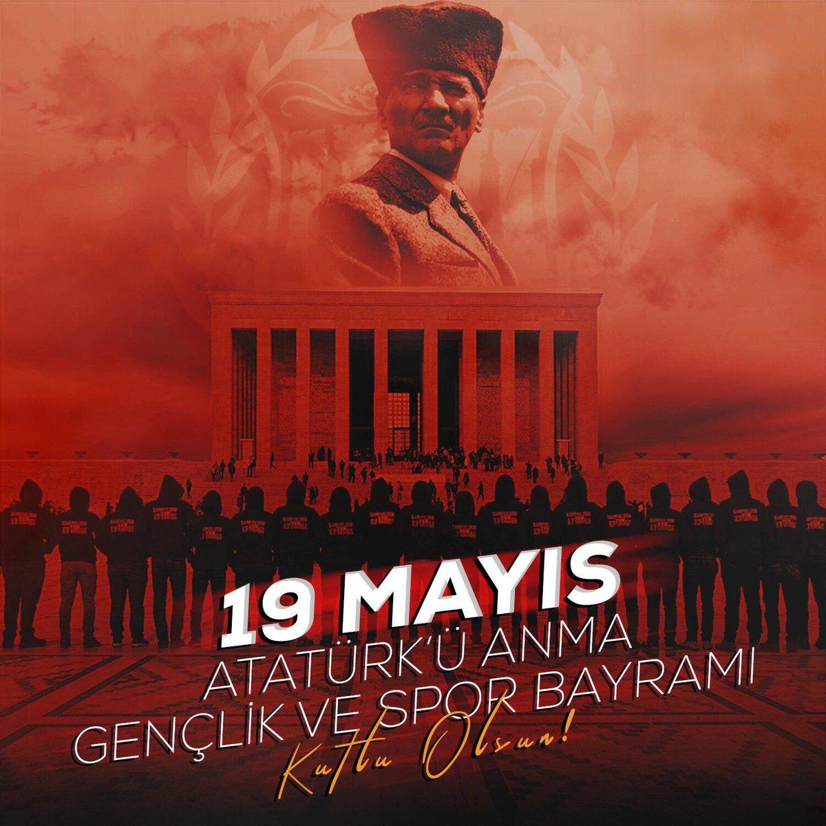 19 MAYIS ATATÜRK'Ü ANMA GENÇLİK VE SPOR BAYRAMIMIZ KUTLU OLSUN! #ultrAslanUNI