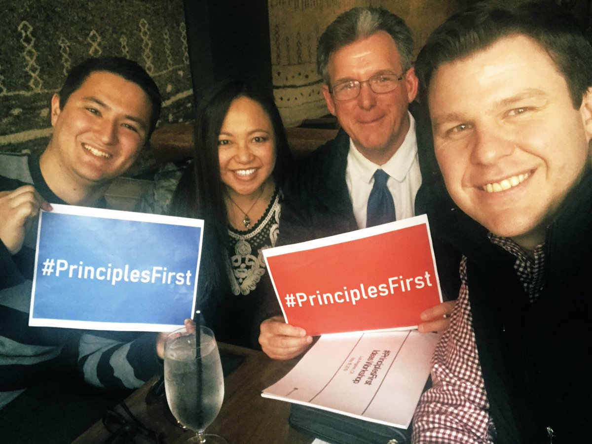 Great conversation about the future of conservatism out here in LA! Lots of frustration with the GOP, but also optimism about what comes next. This is how it starts—at the grassroots. #PrinciplesFirst <br>http://pic.twitter.com/mEMhzix5gw