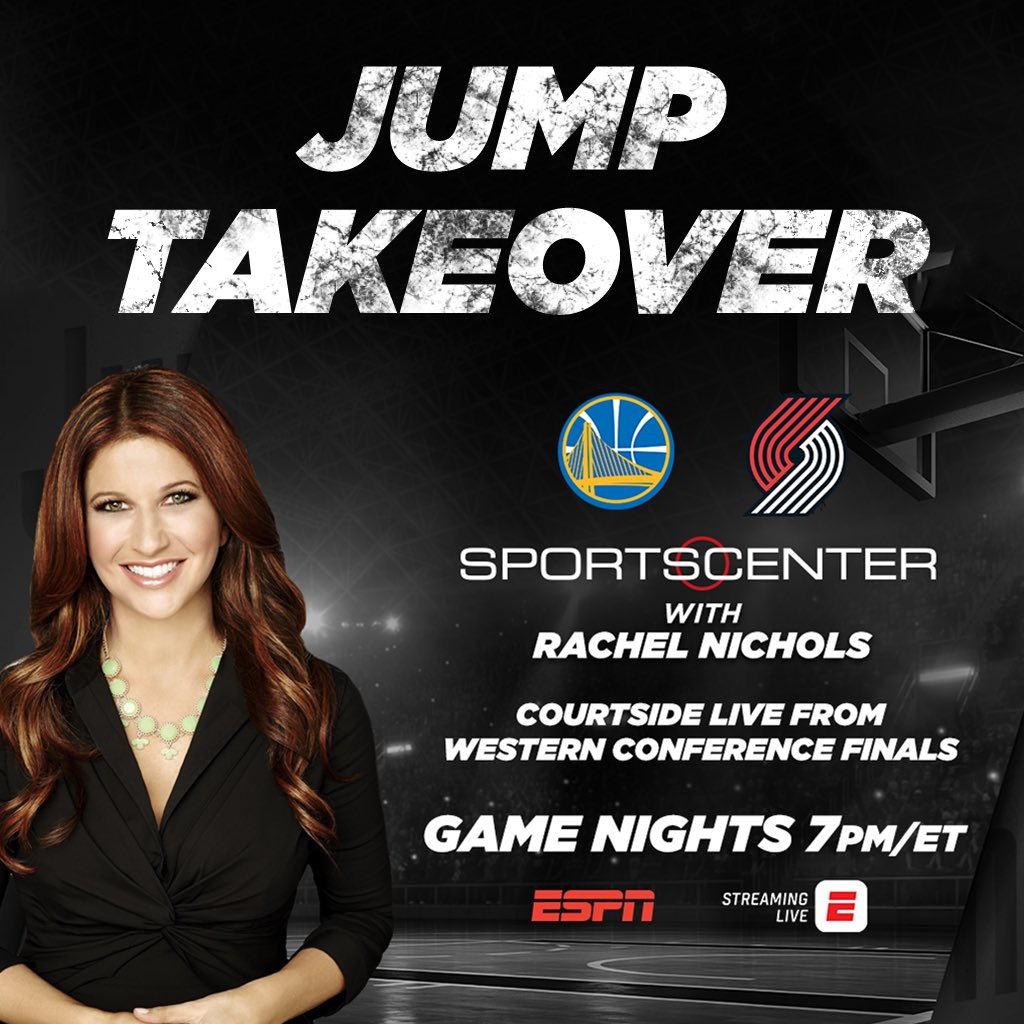 We're baaaaack....I'm hosting SportsCenter tonight with the whole #Jump crew. We've brought @ScottiePippen back to Portland, Jusuf Nurkić is gonna stop by, plus Sabrina Ionescu 🔥 Come. Hang. Out.