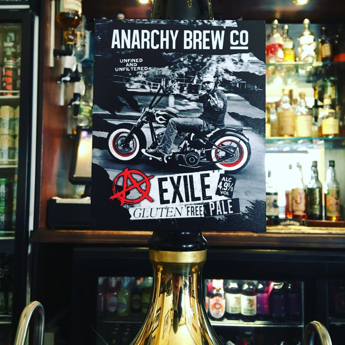 Exiled by choice! I'll take one more beer for the road! #headofsteamhuddersfield #cameronsbrewery #beerme #anarchybrewco #exile #glutenfree #veganbeer #unrefined #unfiltered #caskale