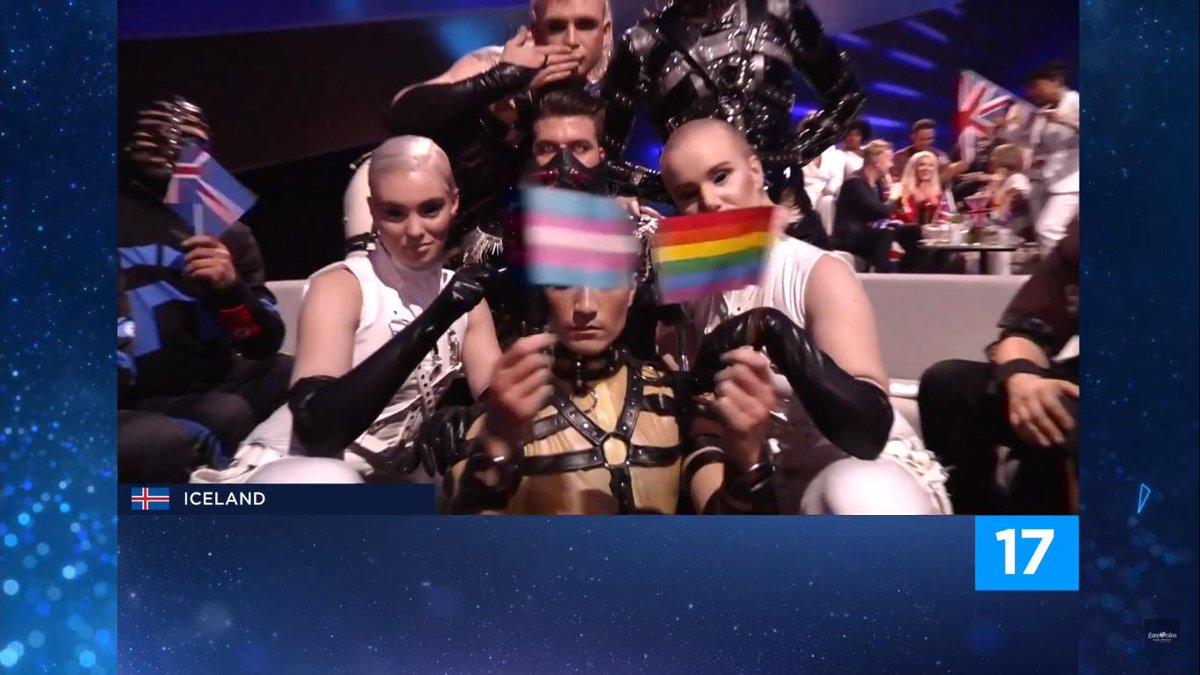islandia es la ganadora solo por esto #Eurovision