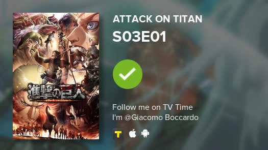 test Twitter Media - I've just watched episode S03E01 of Attack on Titan! #AttackOnTitan  #tvtime https://t.co/KRslad0iWO https://t.co/48v3amVrPv