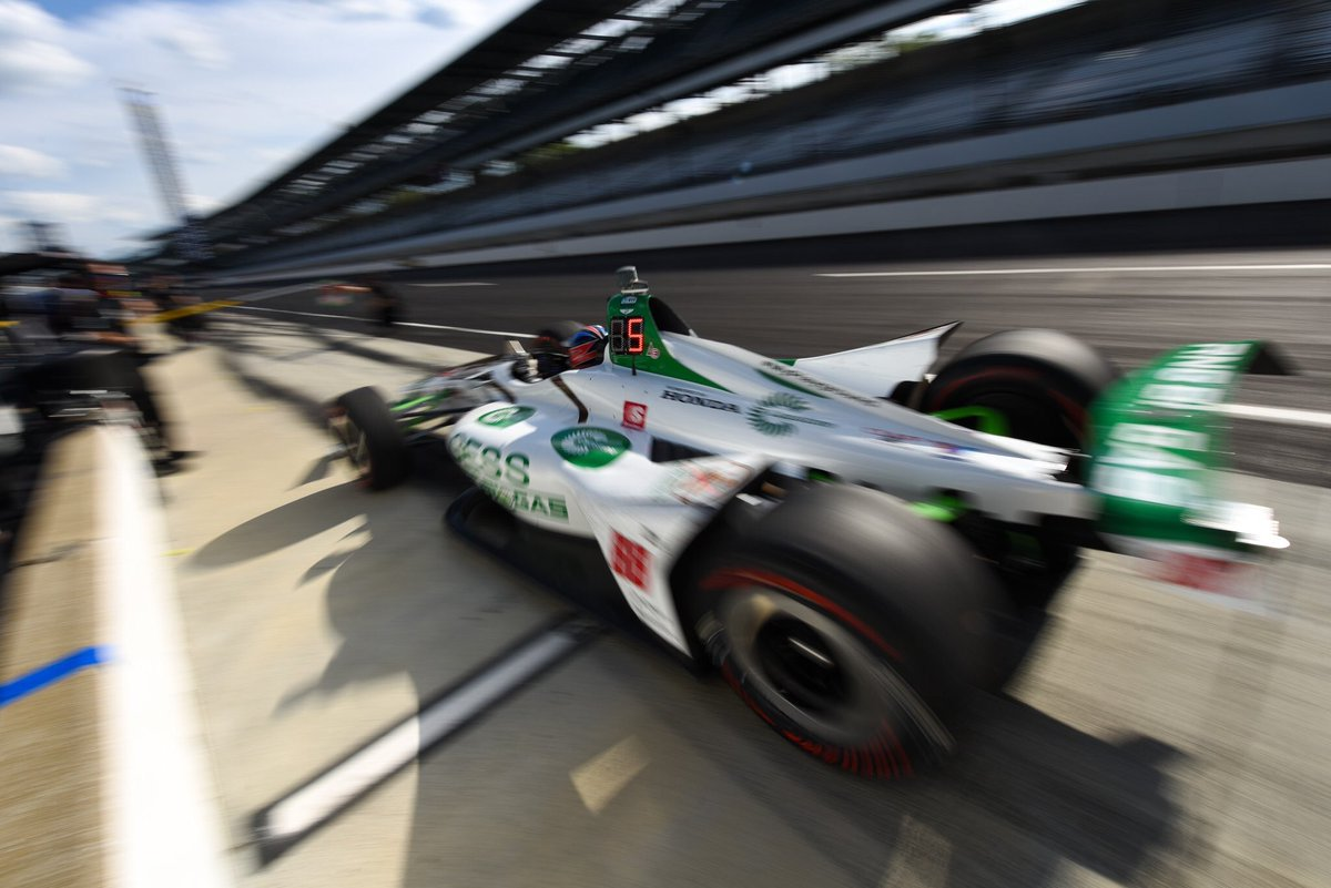 What a day!! P5 and into the fast 9 tomorrow! #Indycar / #IMS // #GESSGreen