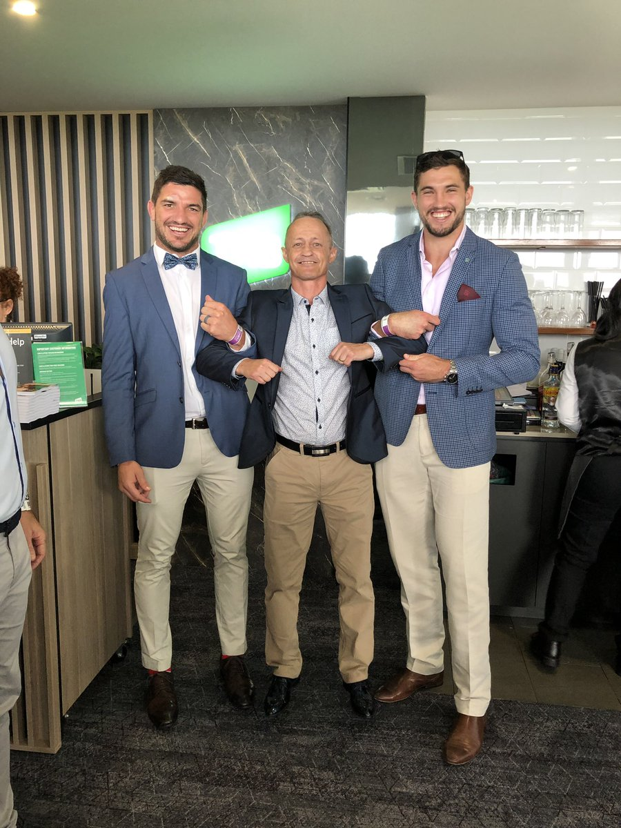 Three wise men ? Our VIP's and their guests got to talk racing and football yesterday on our Doomben Suite ! Many thanks to @DamianBrowne9 Corey Oates and Matt Gillett !