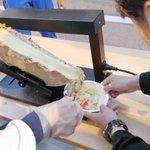 Image for the Tweet beginning: 指導員の木岡&井上です。昨日のチーズイベント、沢山のご来場ありがとうございました。久しぶりにみなさんの笑顔が見ることができ、ネヤドラスタッフも嬉しかったです。ネヤドラ特製のハットグとラクレットはなかなか美味しかったでしょ😋