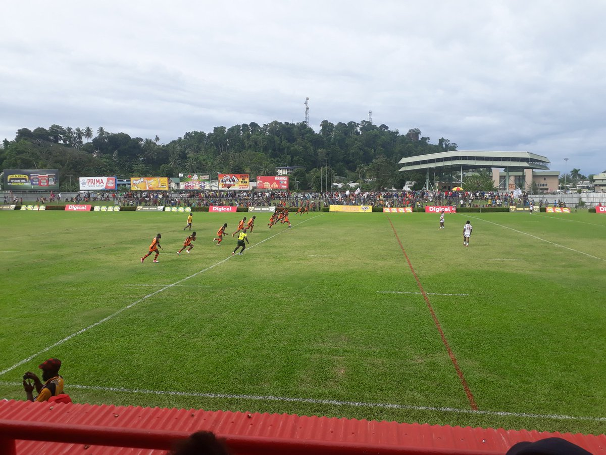 @PNGRFL_Official #DigicelCup2019 kick off #LaeSnaxTigers v #GorokaLahanis Its all happenning in #Lae #PNG #rugbyleaguepic.twitter.com/vljUXxC1EJ