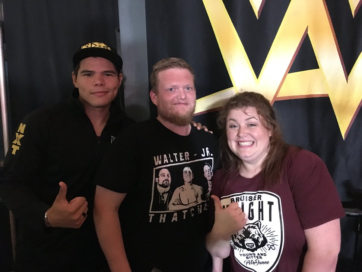 Congratulations to our #NXTSanford Fan of the Night @coconutloopken who celebrated his birthday by meeting #205Live Superstar @humberto_wwe!