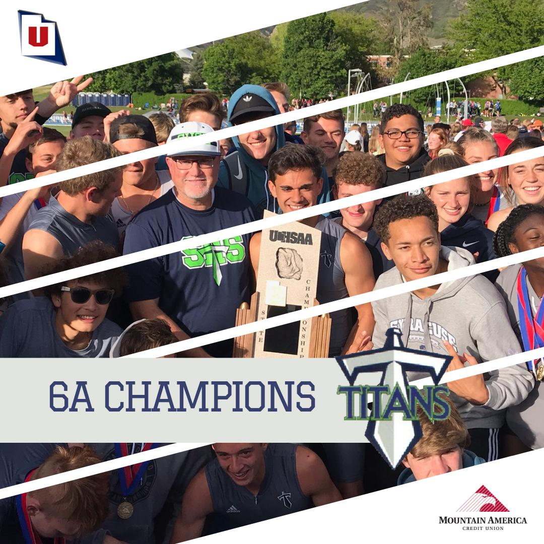 The @SHS_Titans are @MountainAmerica 6A boys track and field champs for the first time in school history! #MyReasonWhy