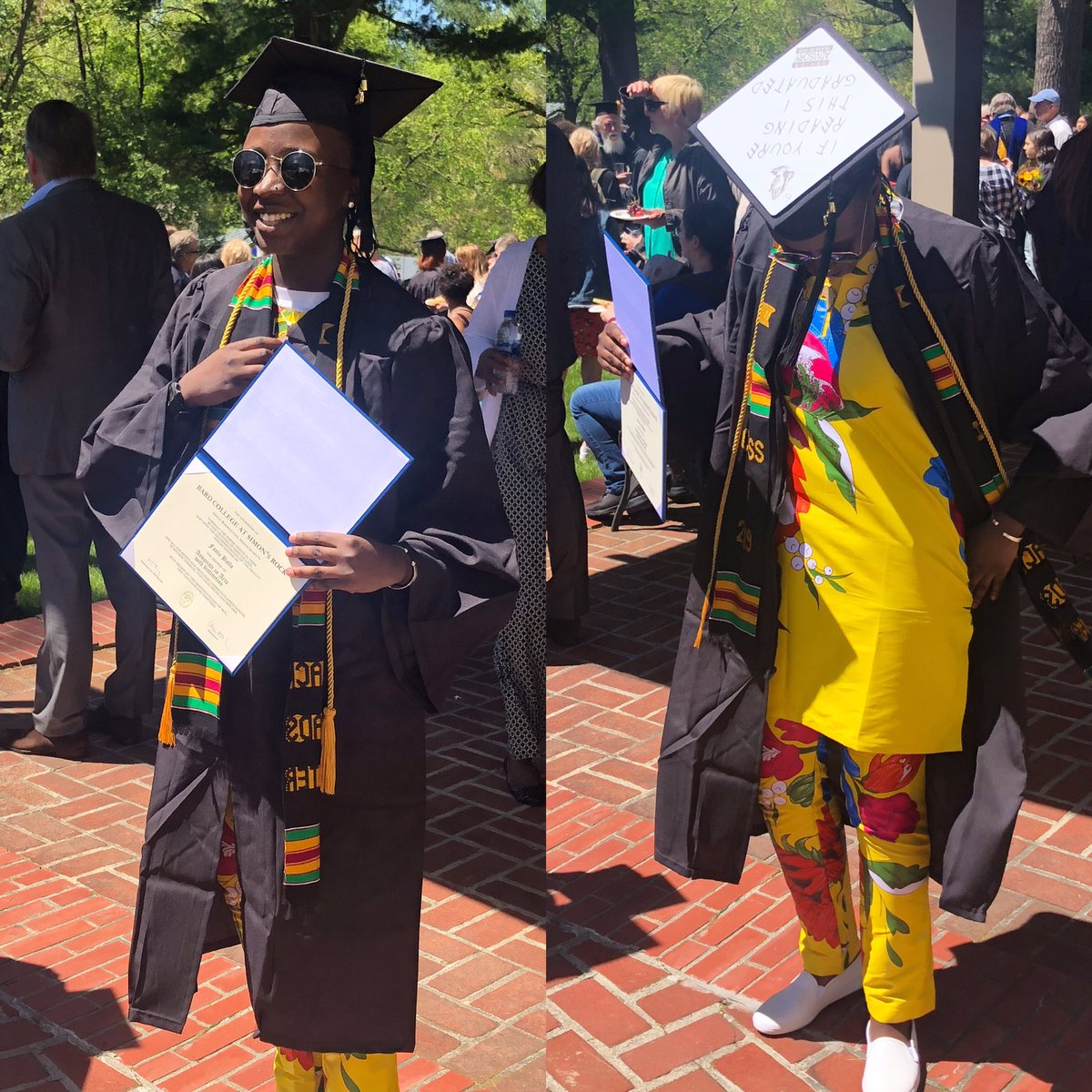 Dropped out of Highschool at 15 ✅  Started college at 15 ✅  Graduated with my associates degree at 17 ✅ First Generation Grad ✅ I didn't take the conventional way but I'm different ‼️ #collegegrad #blackgirlsgraduate #blackwomeninstem #blackgirlmagic