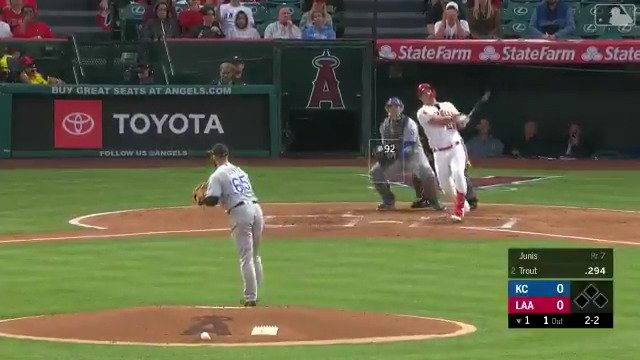 473 feet for HR No. 250. Insane, @MikeTrout.