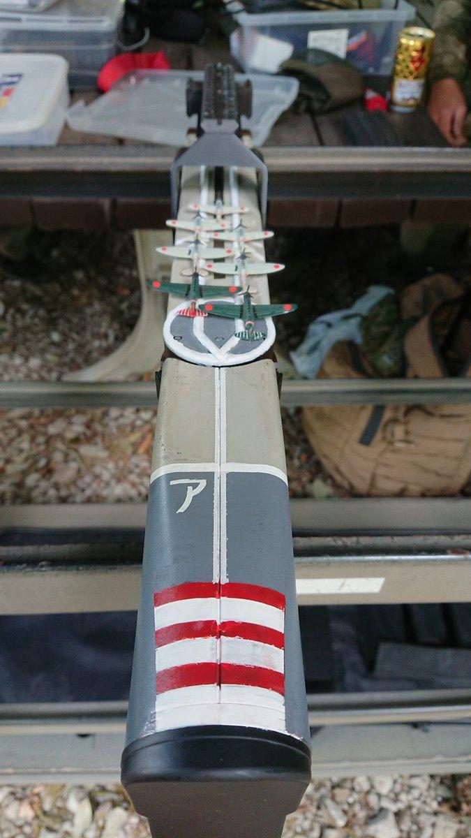 #空母赤城 何かの同人誌でSF物に出て来そうな、宇宙空母赤城って漫画書けそう。 銃口は波◯砲と言う事でW